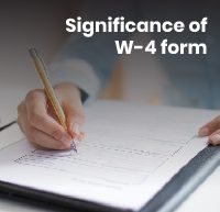 Significance of W-4 form